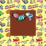 Cartoon playground seamless pattern Stock Photography