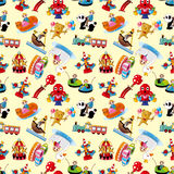 Cartoon playground seamless pattern Royalty Free Stock Photos