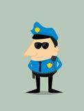 Cartoon plice officer Stock Photography