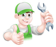 Cartoon Plumber Stock Photo
