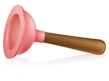 Cartoon plunger Royalty Free Stock Photos