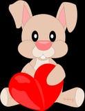 Cartoon plush bunny 1 Royalty Free Stock Photos