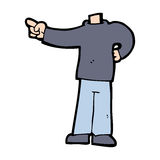 Cartoon pointing body (mix and match cartoons or add own photos) Royalty Free Stock Photo