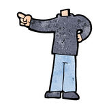 Cartoon pointing body (mix and match cartoons or add own photos) Stock Photo