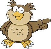Cartoon pointing owl Stock Photos