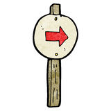 cartoon pointing signpost Royalty Free Stock Images