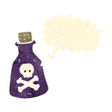 Cartoon poison bottle Royalty Free Stock Photography