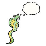 Cartoon poisonous snake Stock Images