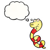 Cartoon poisonous snake Royalty Free Stock Images