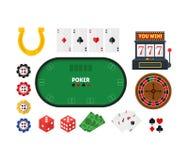Cartoon Poker Set. Vector Stock Photo