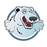 Cartoon polar bear Royalty Free Stock Photos
