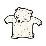 Cartoon polar bear Stock Photo