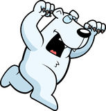 Cartoon Polar Bear Attacking Stock Photo