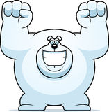 Cartoon Polar Bear Celebrating Royalty Free Stock Images