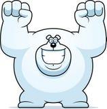 Cartoon Polar Bear Celebrating Royalty Free Stock Images