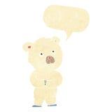 cartoon polar bear cub with speech bubble Royalty Free Stock Image