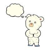 cartoon polar bear cub with thought bubble Stock Image