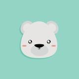 Cartoon Polar Bear face Stock Images