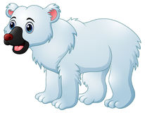 Cartoon polar bear Stock Photography