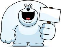 Cartoon Polar Bear Sign Royalty Free Stock Photography