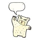 Cartoon polar bear with speech bubble Stock Image