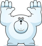 Cartoon Polar Bear Surrender Royalty Free Stock Image