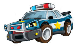 Cartoon police. Beautiful illustration for the children Royalty Free Stock Photos