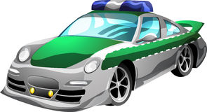 Cartoon Police Car. Police Car in cartoon style as a  illustration Royalty Free Stock Photo