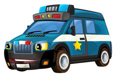 Cartoon police car - van - isolated. Beautiful and colorful illustration for the children - for different usage royalty free illustration