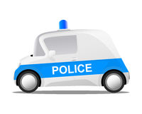 Cartoon police car Stock Photography