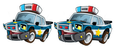 Cartoon police - caricature Stock Images