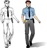 Cartoon policeman Royalty Free Stock Images