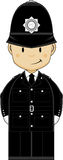 Cartoon Policeman Stock Photo
