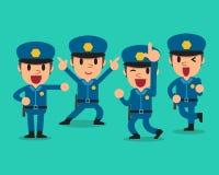 Cartoon policeman character poses set Stock Photos