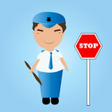 Cartoon  policeman Stock Images