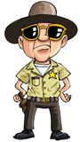 Cartoon policeman with dark glasses Stock Photo