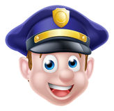 Cartoon Policeman Face Royalty Free Stock Photography