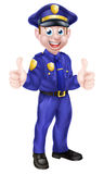 Cartoon Policeman Giving Thumbs Up Royalty Free Stock Photo