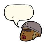 cartoon policeman head with speech bubble Stock Photos