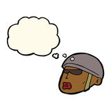cartoon policeman head with thought bubble Royalty Free Stock Photography