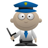 Cartoon Policeman Stock Image
