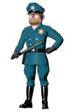 Cartoon Policeman Isolated on white Stock Photos