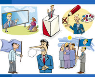 Cartoon politics concepts set Stock Photo