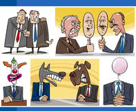 Cartoon politics concepts set Royalty Free Stock Images