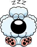Cartoon Poodle Napping. A cartoon illustration of a poodle puppy taking a nap vector illustration