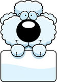 Cartoon Poodle Sign Royalty Free Stock Photography