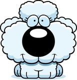 Cartoon Poodle Smiling. A cartoon illustration of a poodle puppy happy and smiling vector illustration