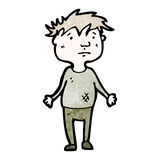 Cartoon poor boy Royalty Free Stock Images