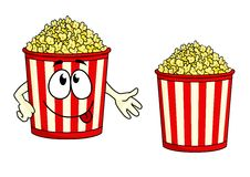 Cartoon Popcorn Character Royalty Free Stock Photo