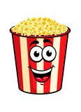 Cartoon popcorn character Stock Photos